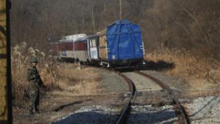 Kereta melintasi zona demiliterisasi (30 November 2018)