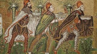 Pintura de los Tres Reyes Magos.