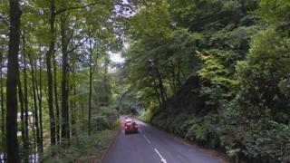 Road near Grantley Hall