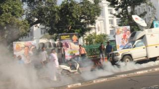 Tear gas on the streets of Kerala