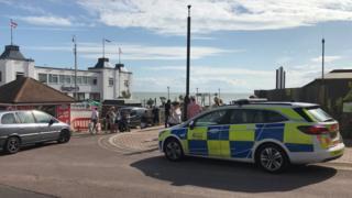 Police car at Clacton Pier