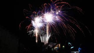Fireworks over North Berwick