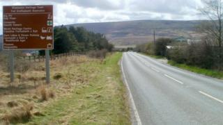 A sign outside Blaenavon