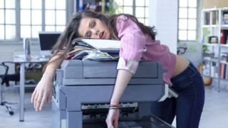 Asleep on the printer