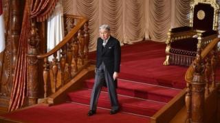 สมเด็จพระจักรพรรดิอะกิฮิโตะที่รัฐสภาญี่ปุ่น