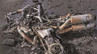 Burnt out bike