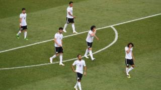 Dejected Egyptian players