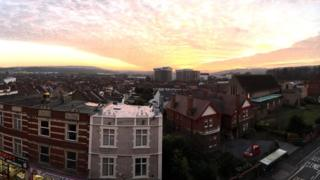 Bristol at sunset