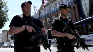 Armed police in Windsor