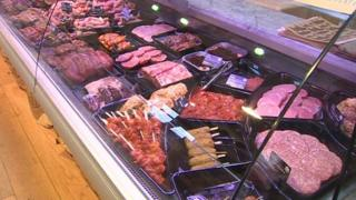 Rhug Estate's meat counter