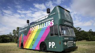 The empty Paddy Power bus for gay footballers