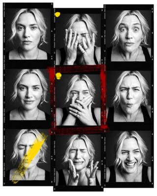 Kate Winslet pulls faces for the camera