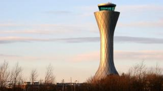 Control tower at Edinburgh Airport