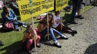 Anti-fracking demonstrators