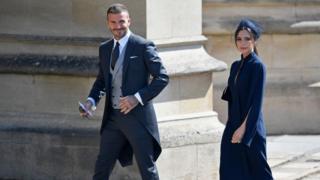 David y Victoria Beckham en su llegada al lugar de la ceremonia.