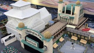 The knitted Wellington Pier and Winter Gardens complex, Great Yarmouth