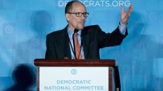 佩雷斯在民主党全国代表大会发言。