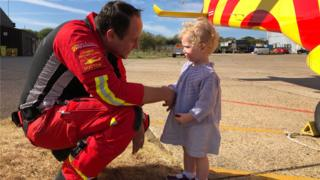 Charlotte Smith meets Essex and Herts Air Ambulance