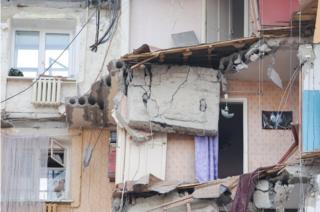 Ruins of Magnitogorsk apartment block, 2 Jan 19