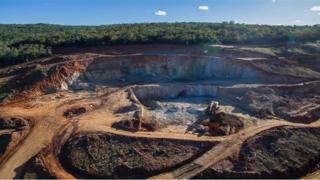 Mina de extração de urânio em Caetité, na Bahia