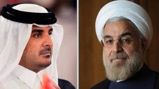 رئیس جمهور ایران و امیر قطر