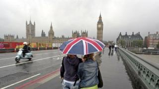 英國西敏寺颳起暴風雨