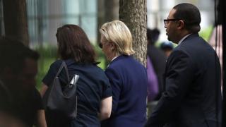 """Elle a fait un malaise qui l'a obligé à écourter sa participation à la commémoration des attentats du 11 Septembre sur le site de """"Ground Zero""""."""
