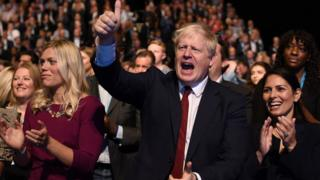 Boris Johnson at Tory Party conference