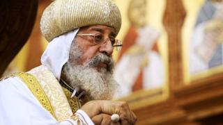 Le pape Tawadros II de l'Eglise copte orthodoxe d'Egypte n'apprécie pas la décision du président Trump.