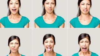 Разные выражения лица