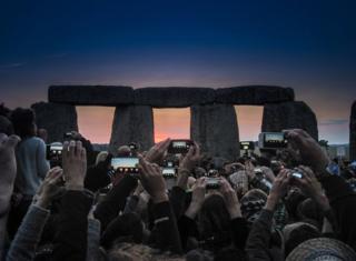 Past Present, Stonehenge, Wiltshire England