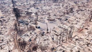 Entire neighbourhoods in the town of Santa Rosa have been destroyed
