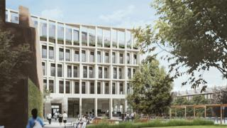 An artists impression of Cloberry Street building