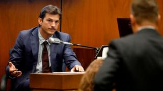 Ashton Kutcher testifies at the Clara Shortridge Foltz Criminal Justice Center on May 29, 2019 in Los Angeles, California