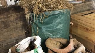 Bags of oats