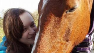 Amy-Jane White and a horse.