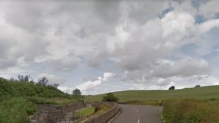 Langmuirhead Road/ junction with Lumloch Road