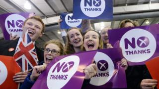 Better Together supporters on referendum night