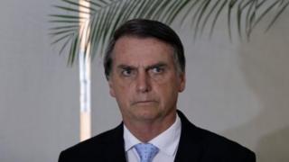 Jair Bolsonaro during a news conference on 28 December
