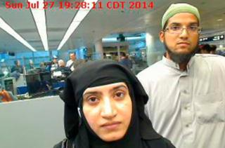 The two attackers at the Chicago O'Hare International Airport on 27 July 2014