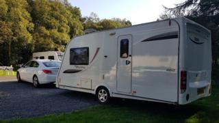 Caravan at site near Whitby