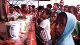 Pengungsi banjir Sentani