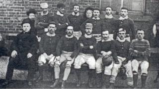 Sheffield FC team in 1857