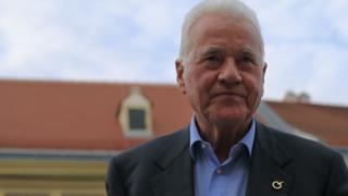 Austrian-Canadian businessman and politician Frank Stronach