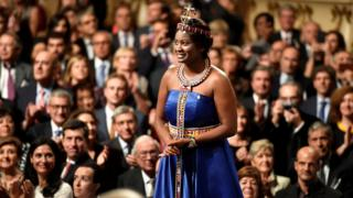Nice Nailantei Leng'ete at a ceremony to receive a Princess of Asturias 2018 award in Oviedo, Spain - Friday 19 October 2018