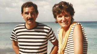 Margaret Forster with husband Hunter Davies