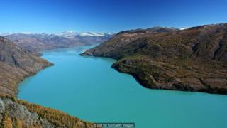 pegunungan, cina, desa hemu, danau kanas