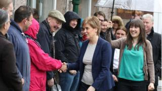 Nicola Sturgeon and voters