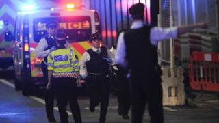 Police at London Bridge