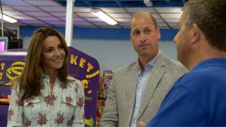 sports Prince William and Catherine at the arcade